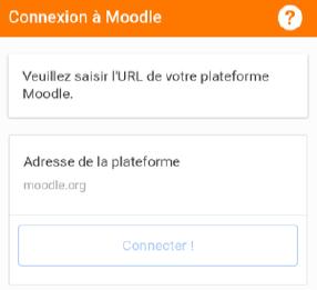 Connexion Moodle Mobile